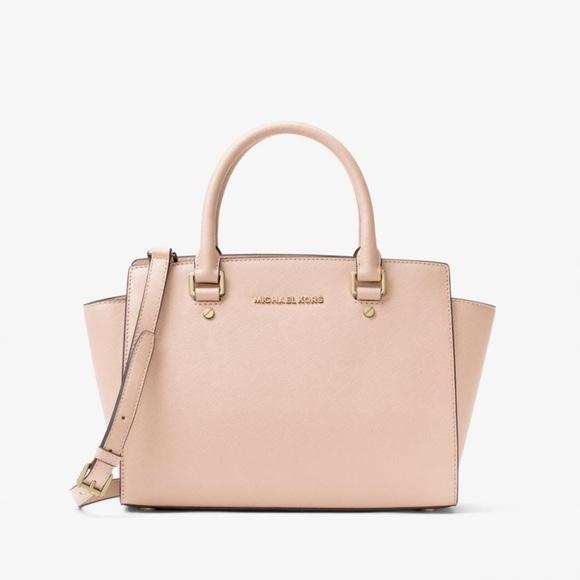 e92188b19b88 MICHAEL Michael Kors Bags | Selma Saffiano Leather Medium Satchel ...